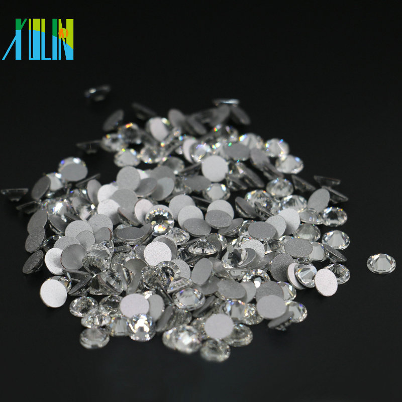 All Size AAA High Quality Non Hot Fix Flat Back Crystal Strass for Nail Art, MS101 Crystal Color
