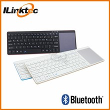 Slim Aluminium cover bluetooth wireless keyboard with touch pad
