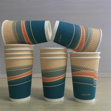 custom styrofoam paper cups hot drink ripple wall paper coffee cup