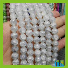 Wholesale 12mm Crystal Glass Round Round Imitation Jade Crackle Beads for Jewelry Making