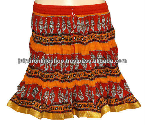 Indian Design mini skirts, cool summer skirts