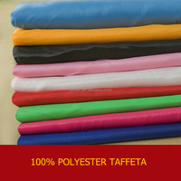 polyester taffeta fabric/petal taffeta table cloths/waterproof polyester taffeta fabric