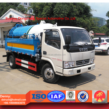 2000L high pressure cleaning tank and 3500L sewage vaccum suction tank truck