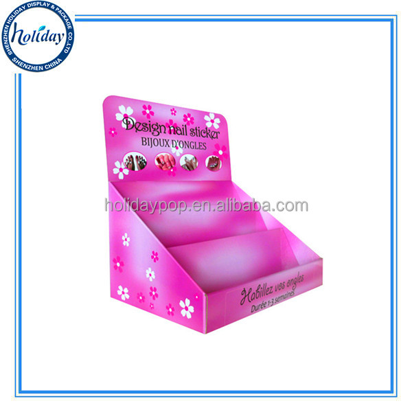 Nice Design Nail Polish Show Case Display,Nail Promotion Sale Corrugated Cardboard Display,POS Cardboard Nail Polish Display