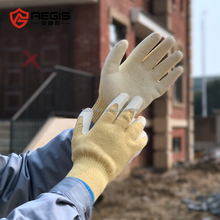 Hot sale cotton lined rubber coated industrial working safety gloves