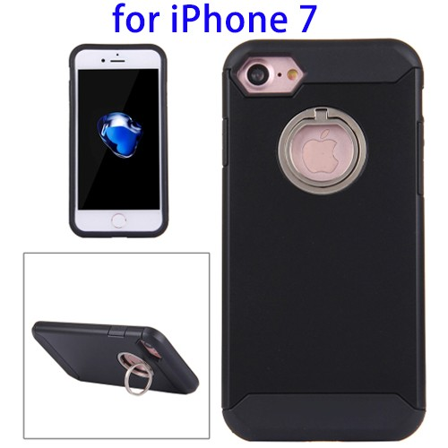 Alibaba Express Dual Layer TPU + PC Phone Cases for iPhone 7 with Hidden Ring Holder