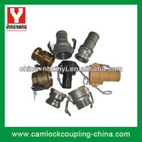 camlock coupling hose pipe fittings (Aluminum, brass, stainless steel 316/304, Nylon & PP)