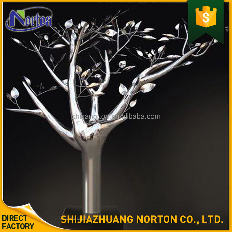 outdoor garden decoration metal stainless steel tree sculpture for sale NT--SS160A
