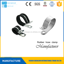 New design rubber cushioned auto fixing pipe clamps