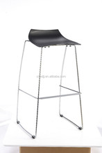 cheap modern simple style cafe stackable barstool furniture salon leisure plastic bar chair