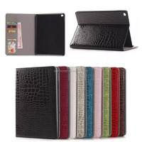 Fashion style crocodile leather case For Apple iPad air 2, for Apple iPad air 2 leather case