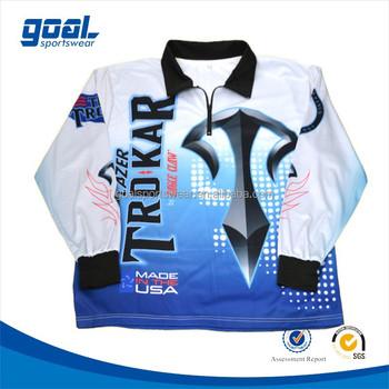 Custom Printing Long Sleeve Fishing Polo Shirts With Logo