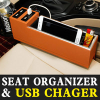 Auto Car Seat Gap Filler Organizer