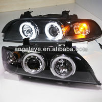 For BMW E39 5 Series 520 525 528 530 535 540 LED CCFL Angel Eyes Head Lamp SN V4 1995-2003 year