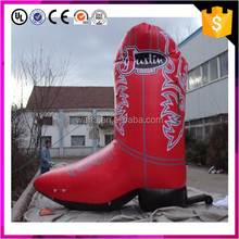 Giant inflatable cowboy boots model for advertising