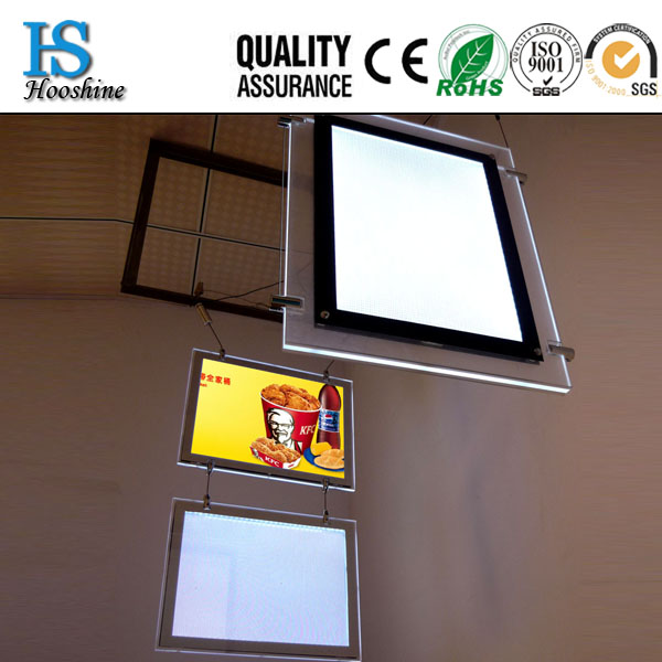 2016 New A3 or A4 Hanging Double Sides Acrlic Light Box LED Window Display For Real Estated LED Acrylic LED Light Box Display