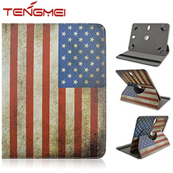 7 8 9 10.1 Inch Universal USA Captain Tablet Case, Leather Case For Ipad , Tablet Cover