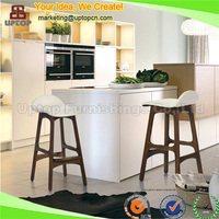 (SP-EC616) Wholesale uptop wood and leather erik buch counter stool