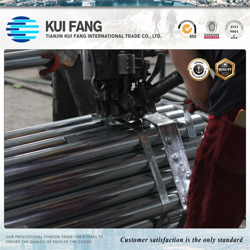 Excellent packing galvanzed pipe /galvanized steel pipe made in tianjin factory