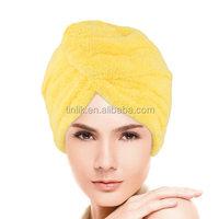 300gsm Coral Fleece Microfiber Weave Hair Dryer Cap/Hair dry towel