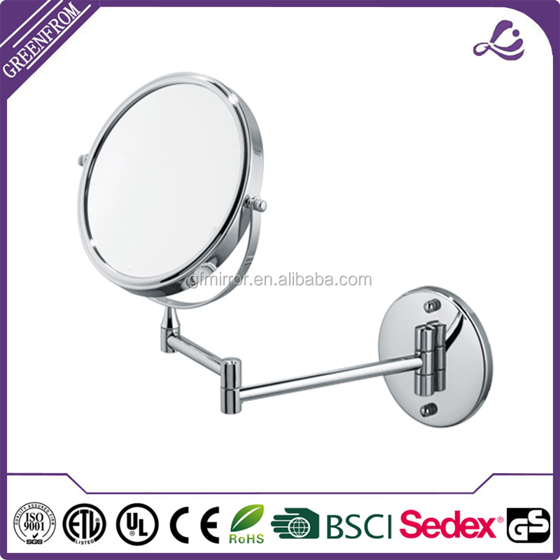 Hot sale hotel bath wall mounted shaving adjustable magnifying mirror