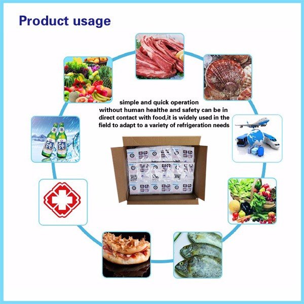 Disposable Ice Packs For Shipping Food 24 Cells Cool Gel Dry Ice Pack