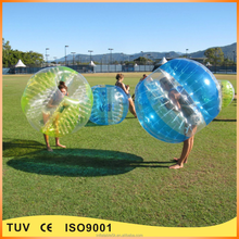 Commercial inflatable bumper ball bubble ball for adult and kids
