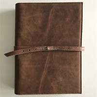 Real Leather Custom Design Ring Binder A5 File Folder