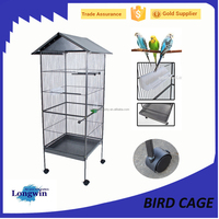 Large size aviaries parrot pet bird cage with drinker and feeder