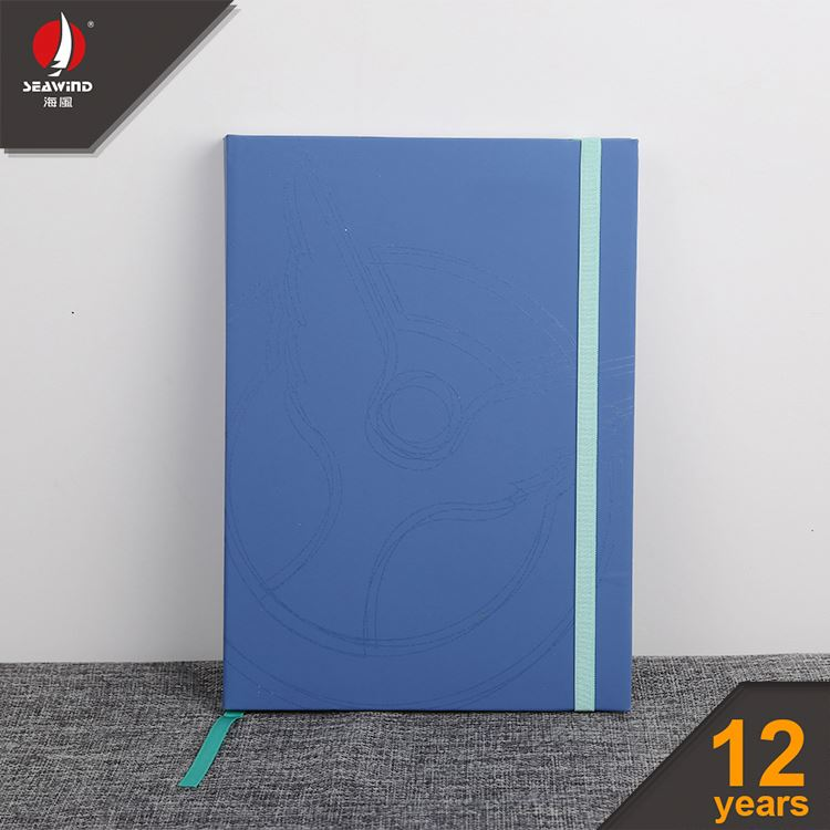 hard cover color A5 A6 elastic genuine leather notebook Diary