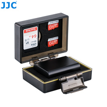 JJC Waterproof Anti-shock Multi-Function Camera Battery and Memory Card Case/Holder/Box for Sony NP-FW50 for SD MSD Card
