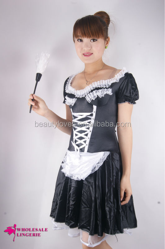 Sexy French maid Dress, Lolita Party Costumes; Hallowmas wear