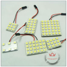 auto led lamp smd 5050 1210 doom light with t10, festoon, ba9s socket
