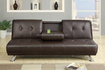 Hot selling high quality PU leather sofa bed in with coffe table YB2219