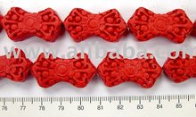 Cinnabar Bow Shape Beads