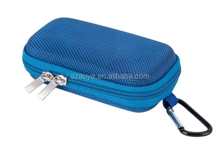 MP3 Player EVA travel Case With Metal Carabiner Clip