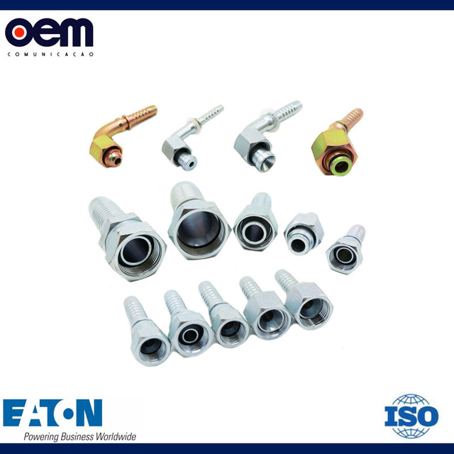 China supplier Carbon steel hydraulic hose fittings with eaton Standard