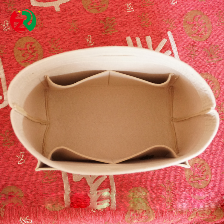 China suppliers cosmetic felt purse organizer insert with high quality