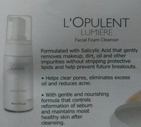 L'opulent Lumiere (Facial foam cleanser)