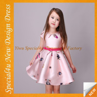 LAU-1050 Beautiful summer new style frock design child dress
