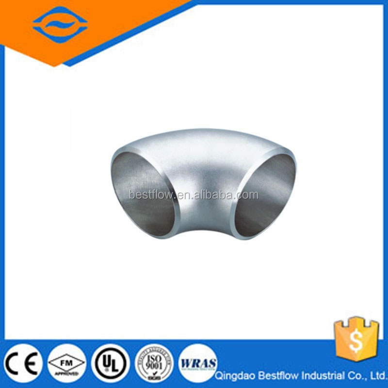 20% discounted 304 steel butt welded pipe fittings/butt welded stainless steel 45degree elbow