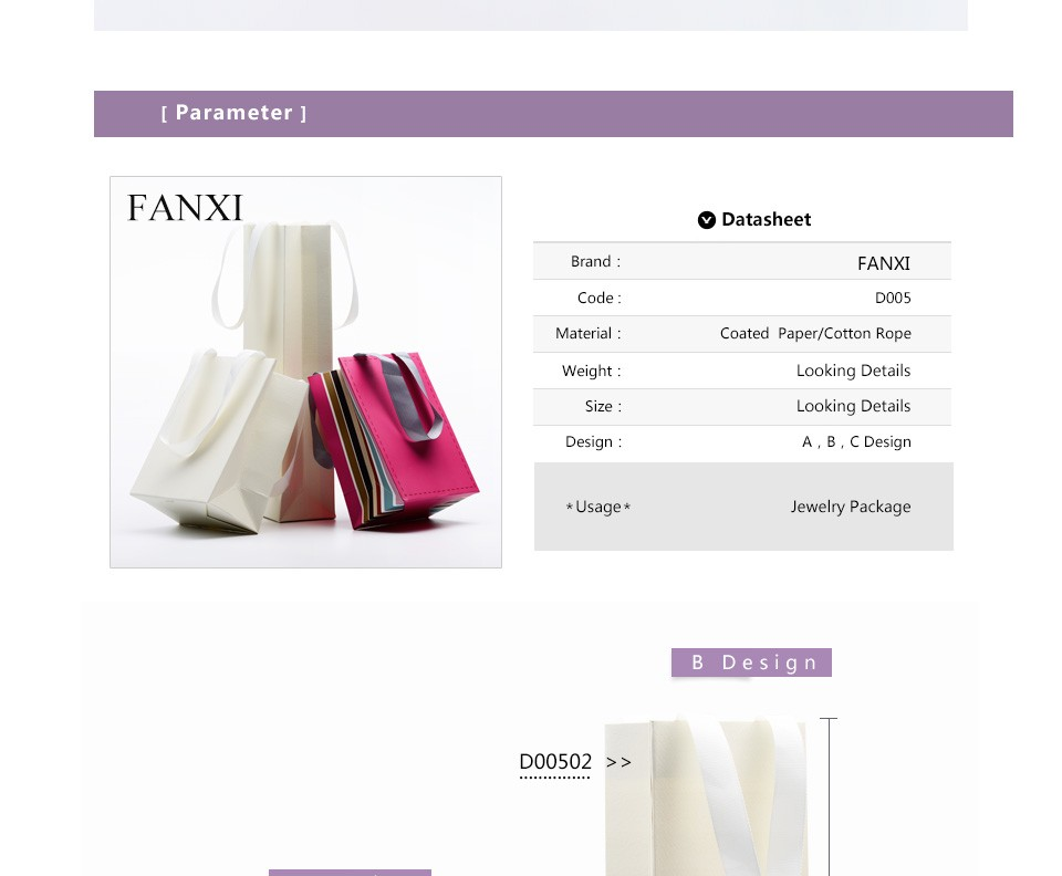 FANXI Wholesale Custom Logo White Color Craft Printed Shipping Bags For Jewelry Gift Packing Handle Paper Bag