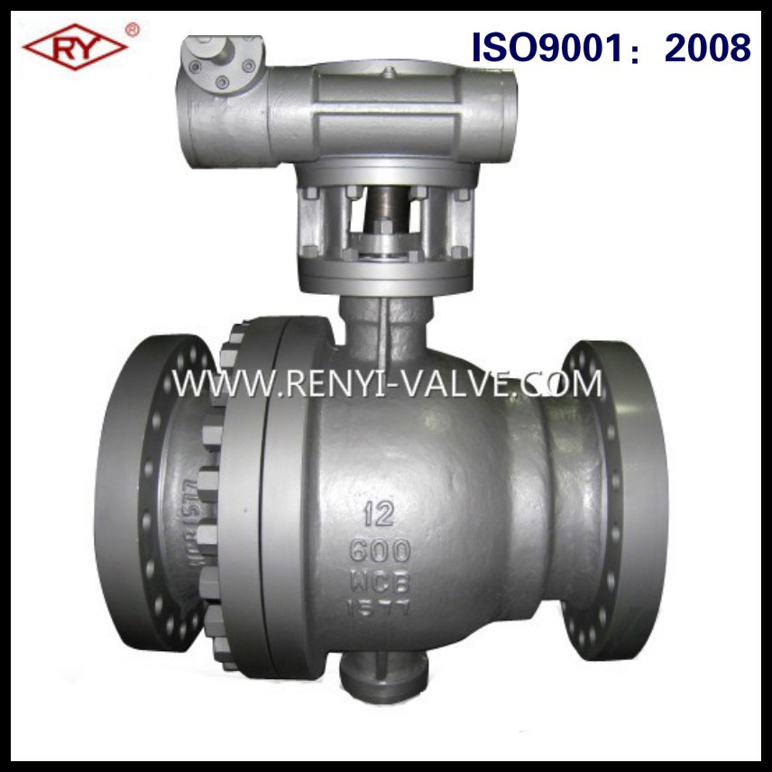 API6D cast body carbon steel WCB 2 pieces flanged trunnion mounted ball valve