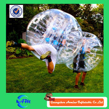 Inflatable human balloon human bubble soccer, inflatable buddy belly bumper ball