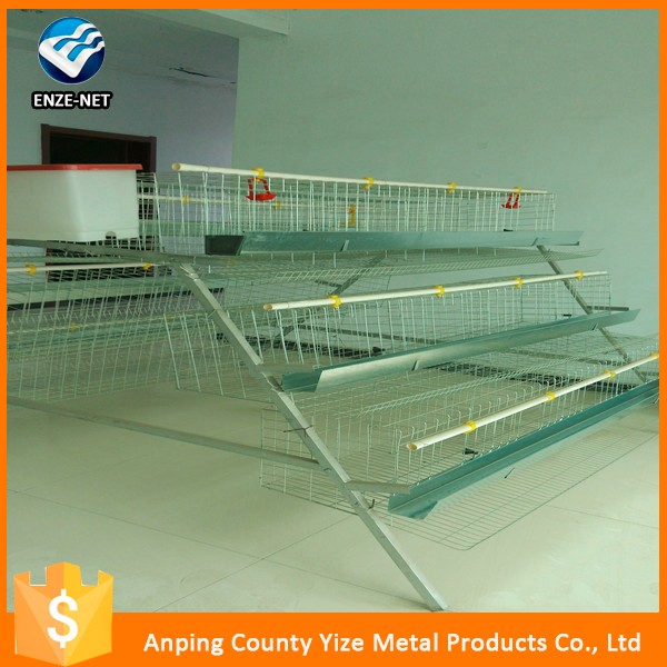 galvanized and plastic coated layer chicken battery cage for Tanzania Uganda poultry farm (best seller in africa)