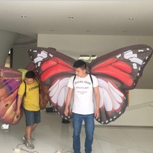 Customized fun inflatable butterfly wrings model for outdoor event decoration