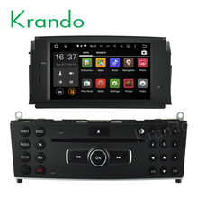 Krando Android 7.1 car radio for mercedes for benz c w204 c180 c200 2007-2011 car dvd navigation gps multimedia system KD-MB180