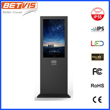 55 inch outdoor commercial LCD Signage with toughened glass and lighting protection hood