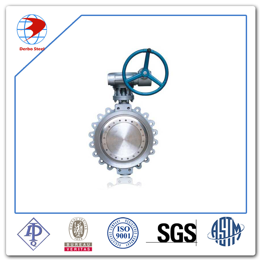 Double Eccentric Structure Butterfly Valve Stainless Steel with Worm Actuator Lug Wafer type Butterfly Valve
