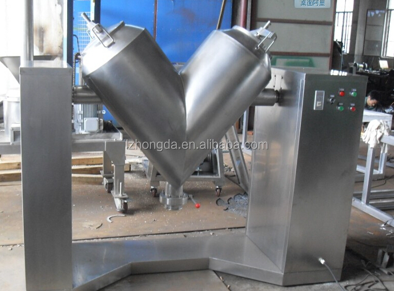 food grade stainless steel v shape powder mixer